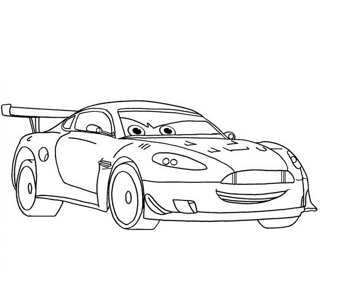 Coloriages Cars et dessins Cars 2 - Coloriage de Nigel Gearsley