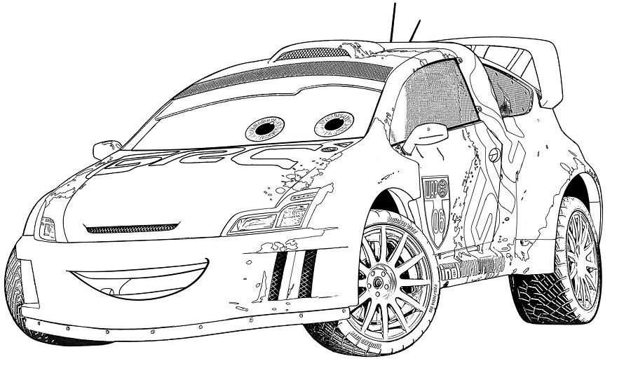 Coloriages Cars et dessins Cars 2 - Coloriage de Raoul ça roule