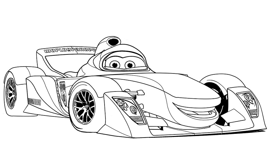 Coloriages Cars et dessins Cars 2 - Coloriage de Rip Clutchgoneski