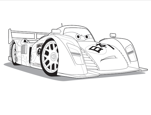 Coloriages Cars et dessins Cars 2 - Coloriage de Shu Todoroki
