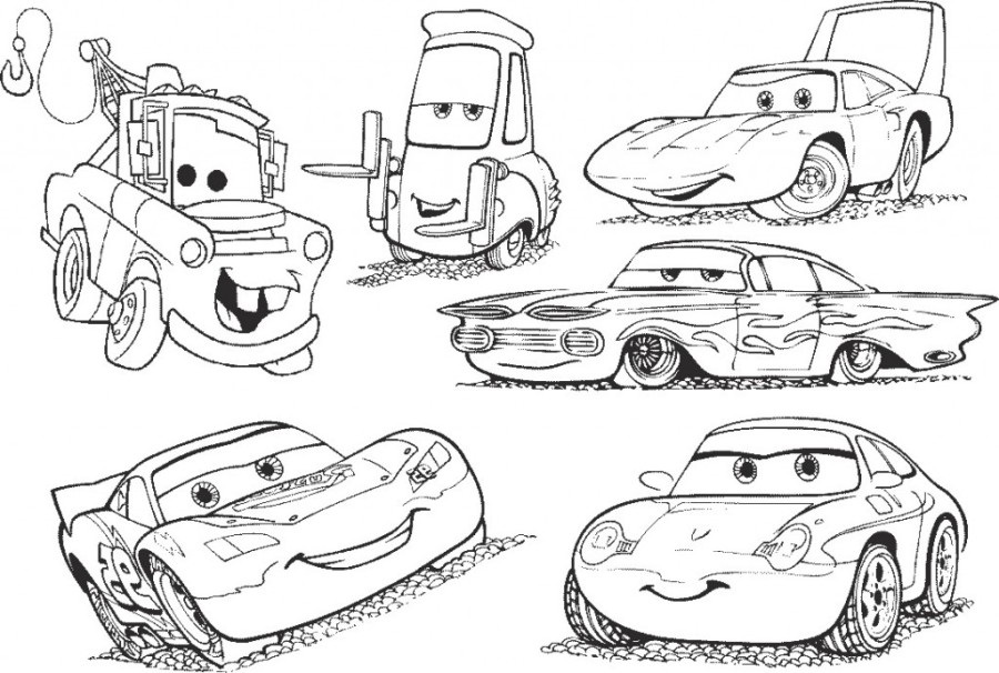 Coloriage cars et cars 2 et dessins de flash mc queen martin - Cars coloriage voitures ...