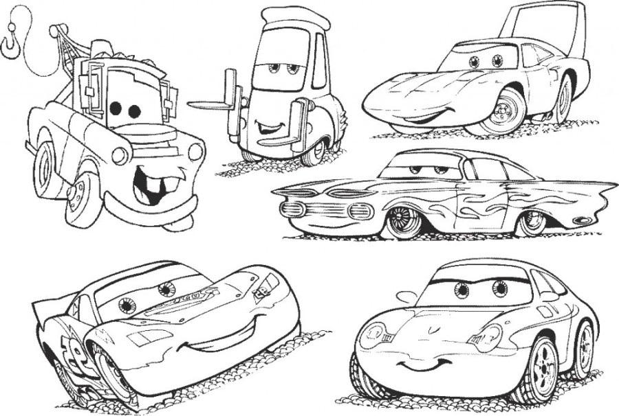 Coloriages Cars et dessins Cars 2 - Coloriage des voitures principales de Cars 2