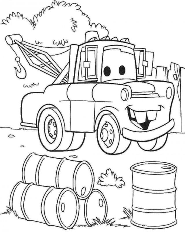 Coloriages Cars et dessins Cars 2 - Dessin à colorier de Martin
