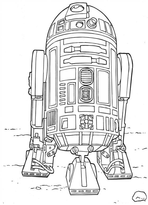 coloriage Star Wars et dessins - Coloriage R2D2