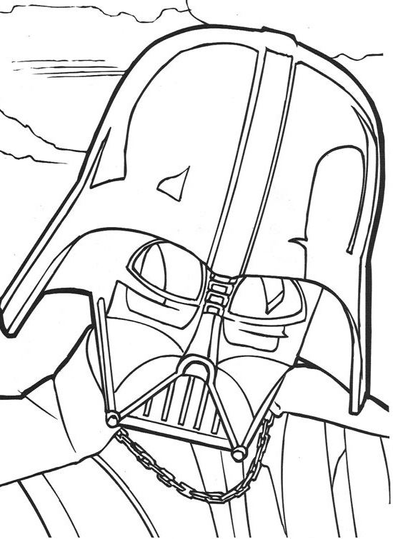 coloriage Star Wars et dessins - Coloriage et dessin Dark Vador
