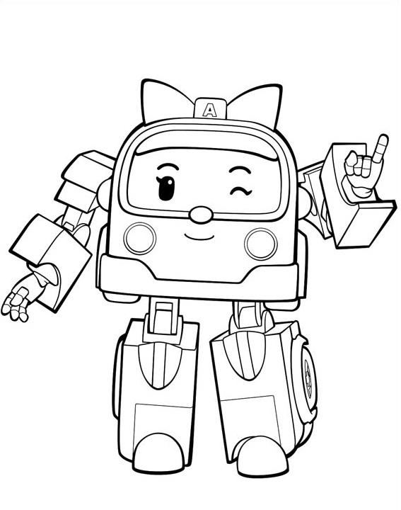 Coloriage et dessin imprimer robocar poli roy h li for Robocar poli coloring pages