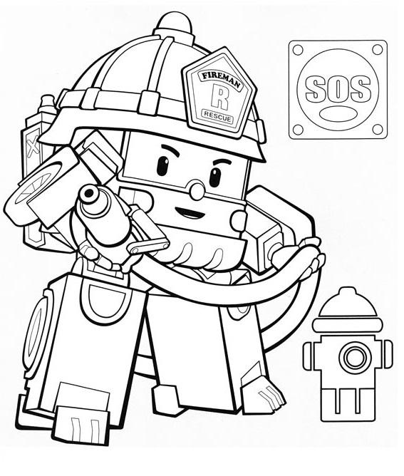 coloriage dessin a imprimer robocar poli roy heli