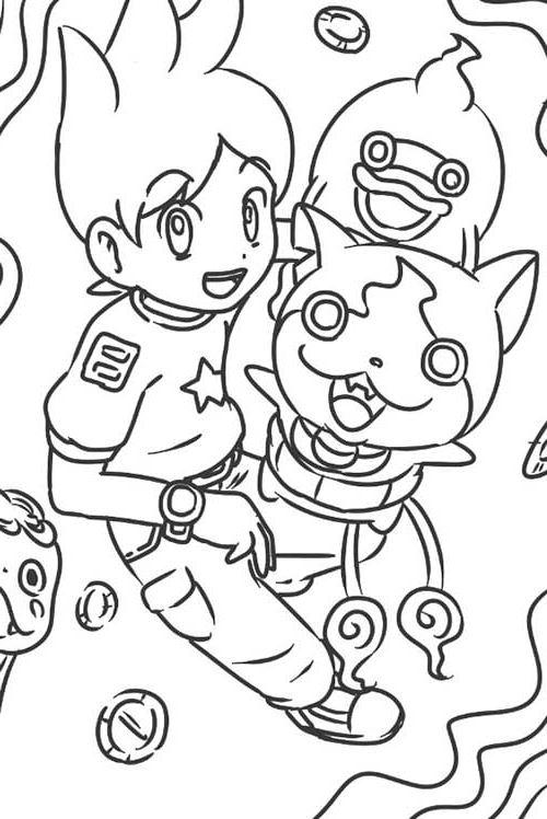 Coloriage Yo-Kai Watch - Whisper Nathan Jibanyan