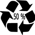 comprendre les symboles, sigles et logos du recyclage - Pourcentage de matières recyclées