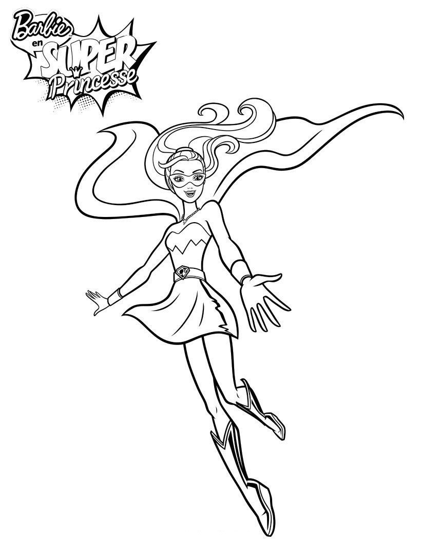 Coloriage de Barbie fashion Coloriage Barbie Super princesse