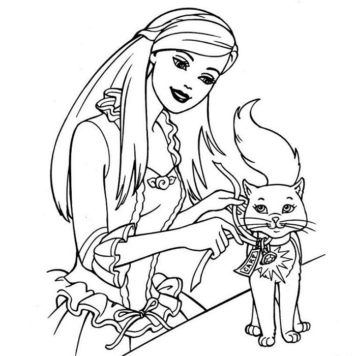 Barbie et son chat