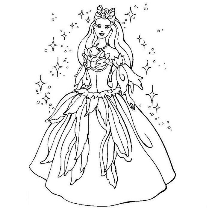 Coloriage de Barbie princesse