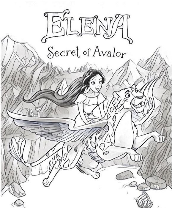 Coloriage à imprimer Elena d'Avalor