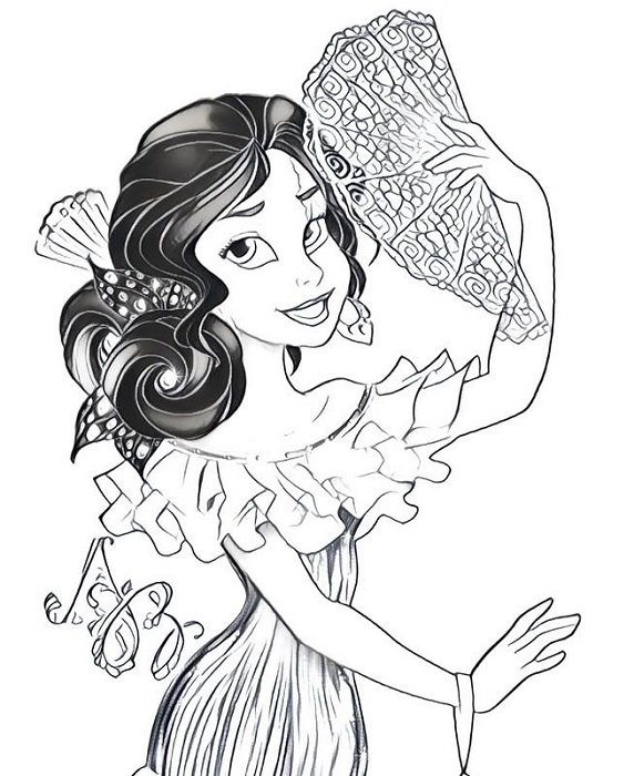 Coloriage Elena d'Avalor 2