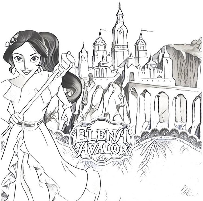 Coloriage Elena d'Avalor - 3
