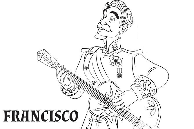 Coloriage Elena d'Avalor - Francisco