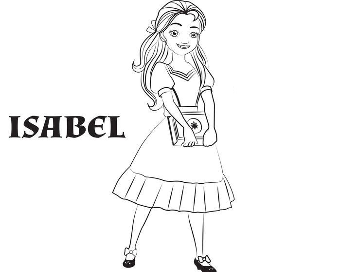 Coloriage Elena d'Avalor - Isabel