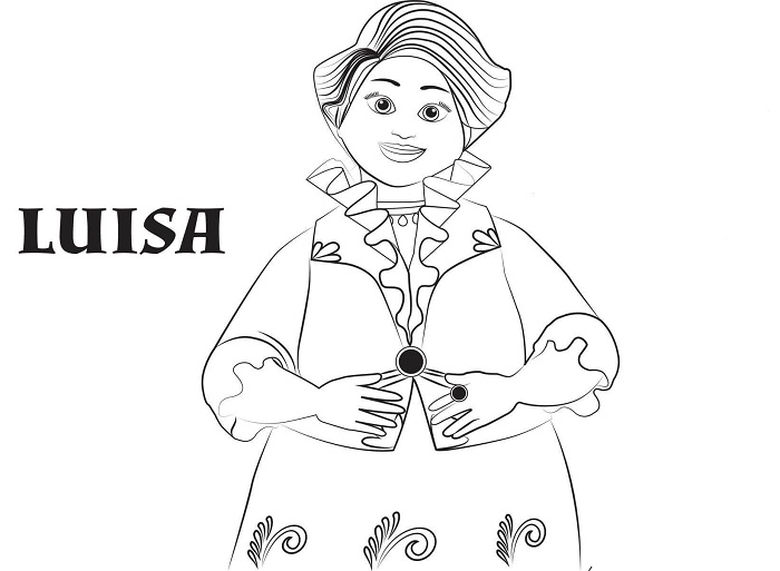 Coloriage Elena d'Avalor - Luisa