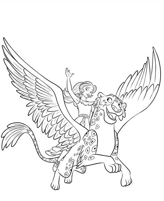 Coloriage Elena d 39 Avalor Princesse