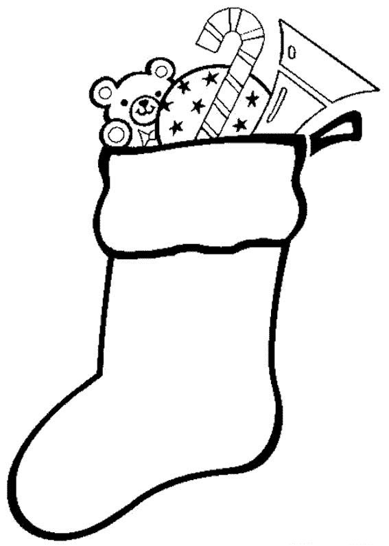 Coloriage chaussette de noël