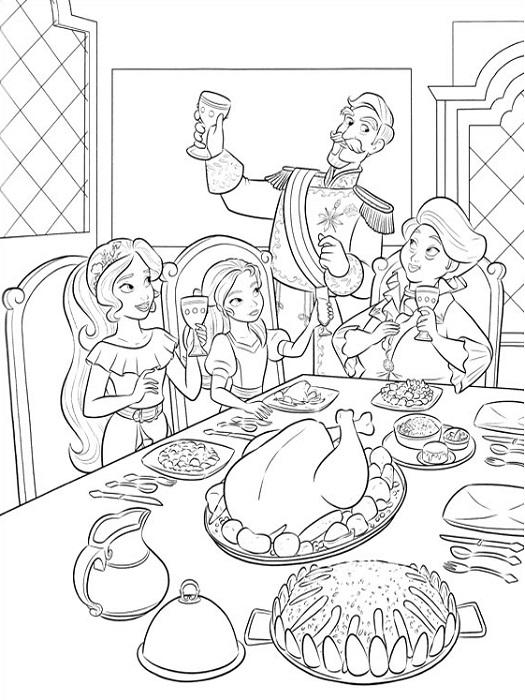 Coloriage famille d'Elena d'Avalor