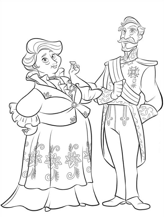 Coloriage grands parents d'Elena d'Avalor