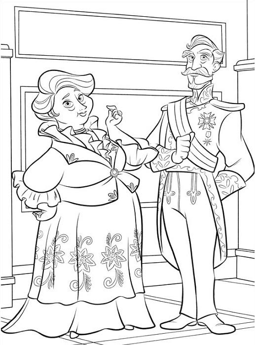 Coloriage grands-parents d'Elena