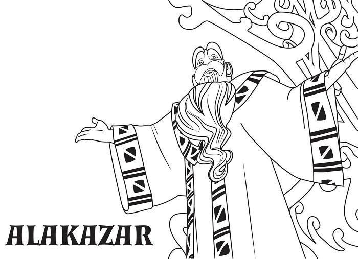 Coloriage gratuit à imprimer - Alakazar