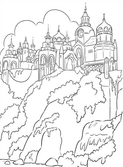 Coloriage gratuit à imprimer - Coloriage du royaume d'Avalor