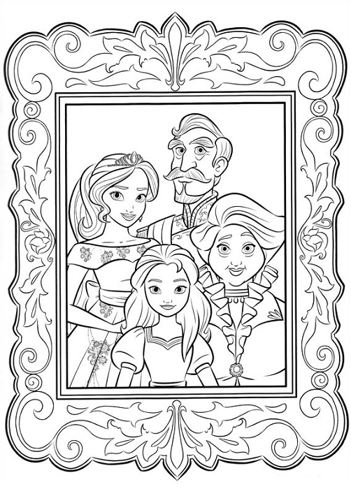 Coloriage Famille Royale.Coloriage Elena D Avalor Princesse Disney