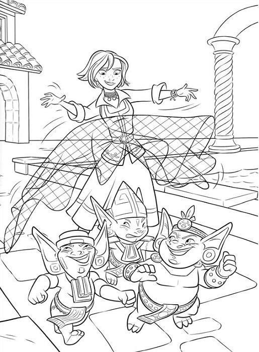Kleurplaat Garde Coloriage Elena D Avalor Princesse Disney