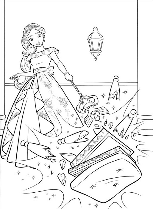 Coloriage princesse Elena d'Avalor - 2