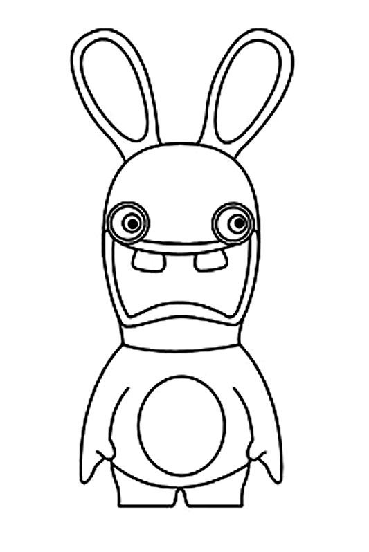 Coloriage lapin crétin -