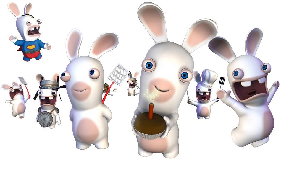 Coloriages lapins crétins