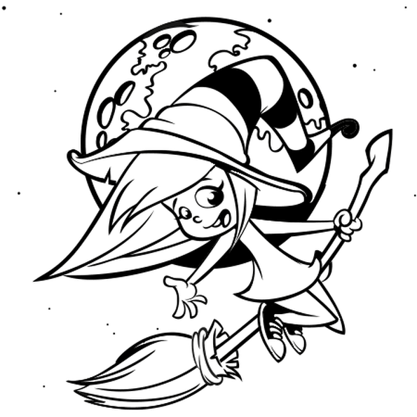coloriages halloween citrouille sorciere squelette