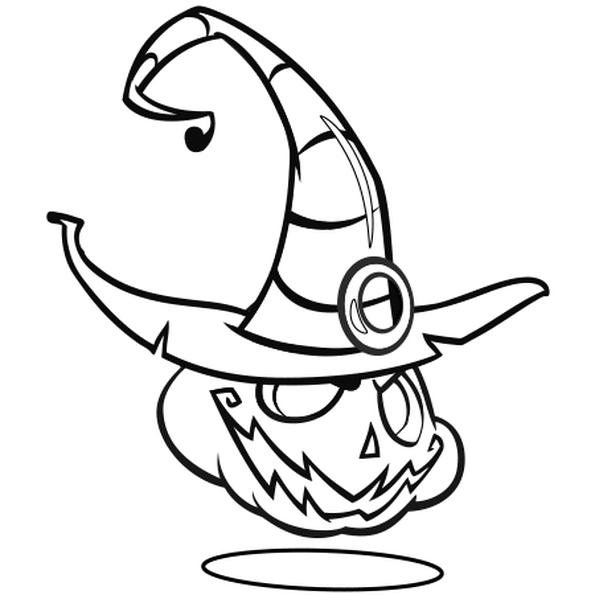 Coloriages Halloween - Citrouille sorcière