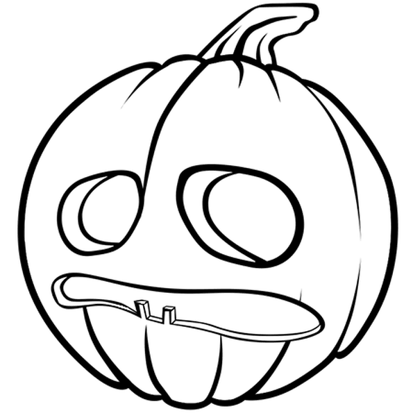 Coloriages Halloween - Citrouille