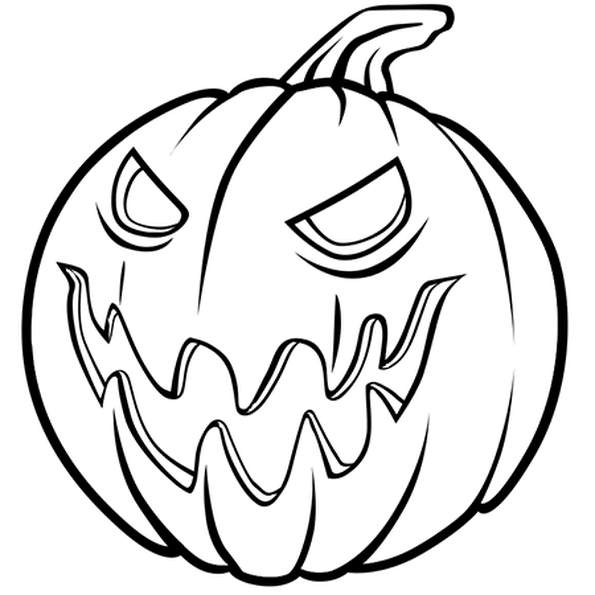 Coloriages Halloween - Coloriage citrouille 2