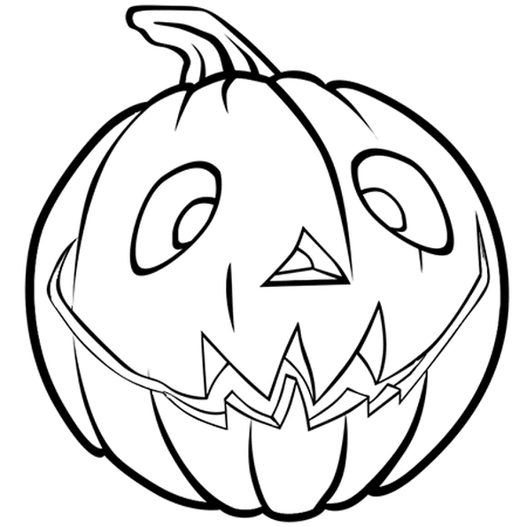 Coloriages Halloween - Coloriage de citrouille
