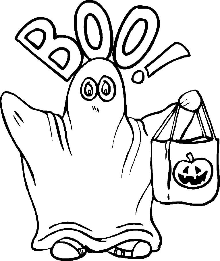 Coloriages Halloween - Coloriage de fantôme