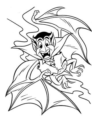 Coloriages Halloween - Vampire