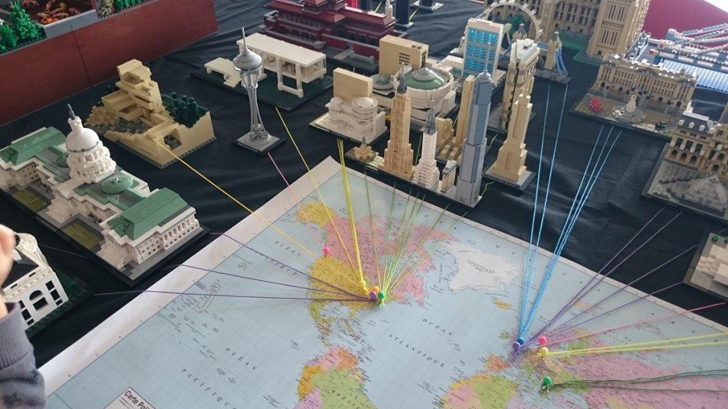 Lego MOC – Exposition Briqu'expo à Lyon - La carte des monuments