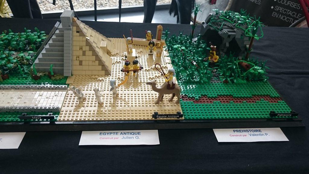 Lego MOC – Exposition Briqu'expo à Lyon - Préhistoire et Egypte antique