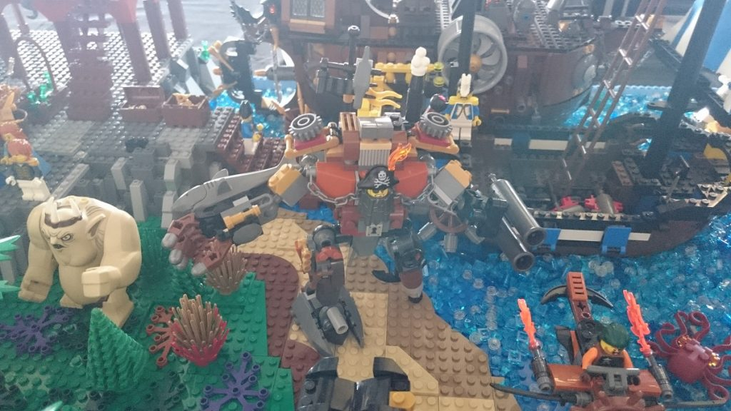 Lego MOC – Exposition Briqu'expo à Lyon - Barbe d'acier de La grande aventure