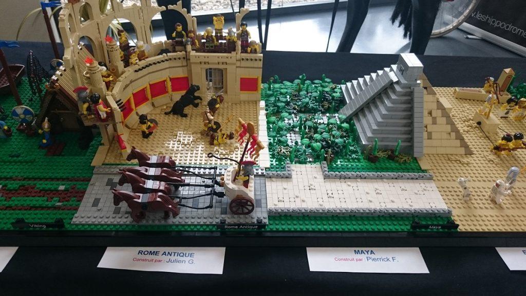 Lego MOC – Exposition Briqu'expo à Lyon - Mayas et Rome antique