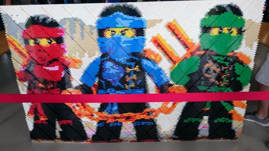Lego MOC – Exposition Briqu'expo à Lyon - Mur Ninjago terminé !