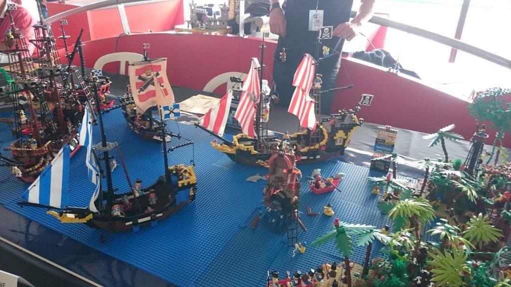 Lego MOC – Exposition Briqu'expo à Lyon - Scène de pirates