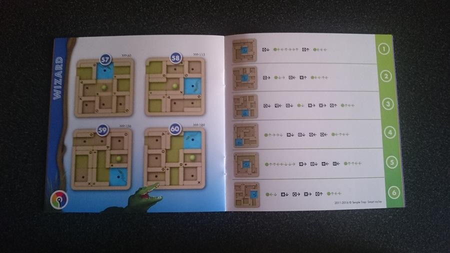 Smartgames - Solutions du jeu l'aventurier