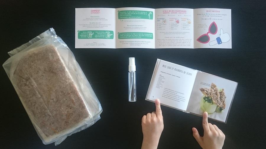 Contenu du kit prêt à pousser pour faire pousser ses champignons pleurotes