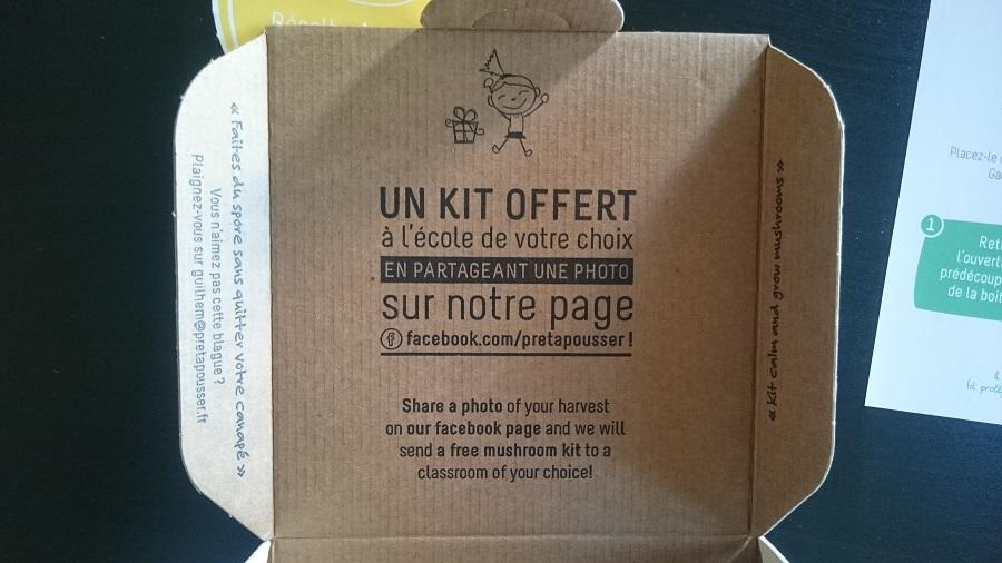 Kit de pleurotes prêt à pousser - Pour poster sur FB
